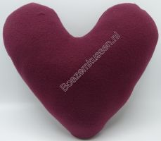 Fleece bordeaux rood